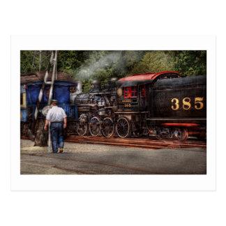 Train - Steam - The conductors job Postcard
