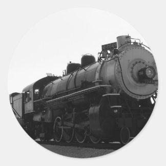 TRAIN ROUND STICKERS