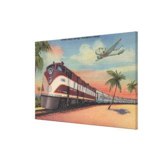 Train- Streamlining through Florida Canvas Print