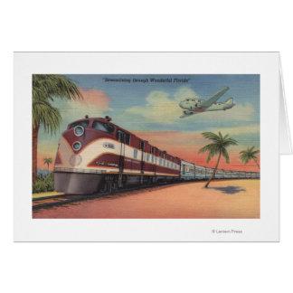 Train- Streamlining through Florida Greeting Cards