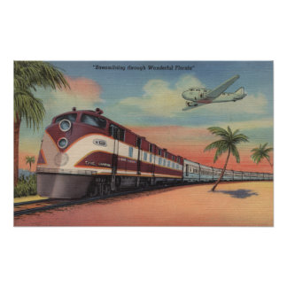 Train- Streamlining through Florida Print