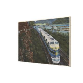 Train- Streamlining through Potomac Canvas Print