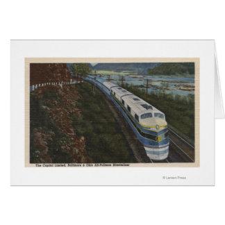 Train- Streamlining through Potomac Greeting Card