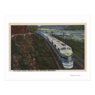 Train- Streamlining through Potomac Postcard