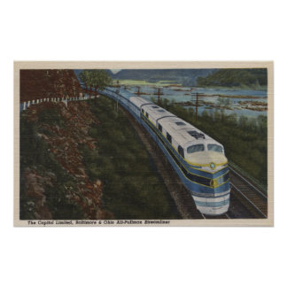 Train- Streamlining through Potomac Posters