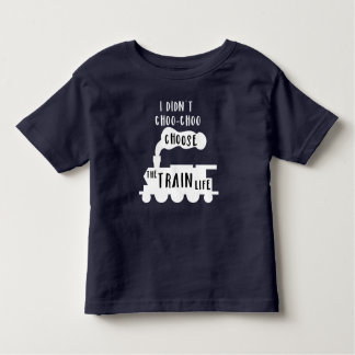 Train Tee for Toddlers - Dark Shirt Design