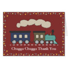 Train Thank You Card - Red