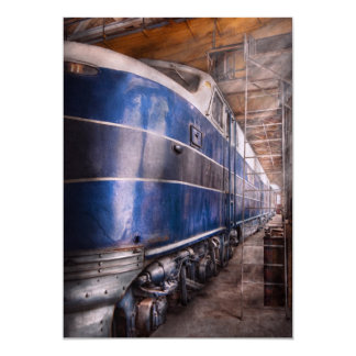Train - The maintenance facility 13 Cm X 18 Cm Invitation Card