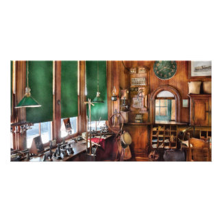 Train - The stationmasters office Photo Greeting Card