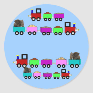 Train Themed Birthday Party favor Classic Round Sticker