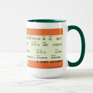 Train ticket Mug