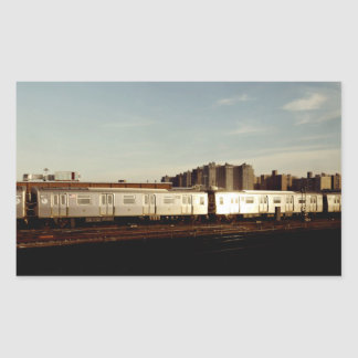 Train To Coney Island Rectangular Sticker