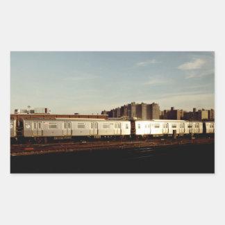 Train To Coney Island Rectangular Sticker