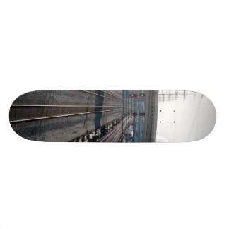 train tracks and resevoir 20.6 cm skateboard deck