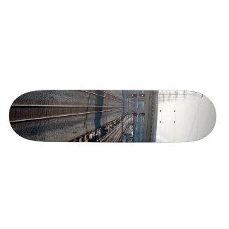 train tracks and resevoir 20.6 cm skateboard deck