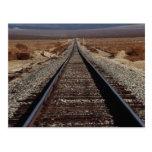 Train tracks, Mojave Desert, California, U.S.A. Postcard