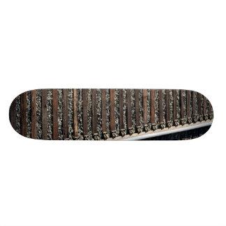 train tracks on gravel 18.1 cm old school skateboard deck