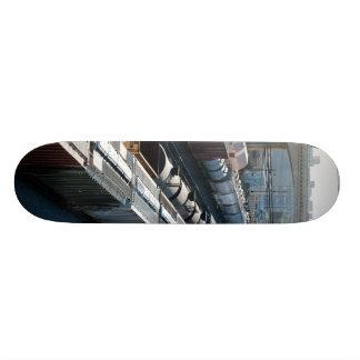 train tracks skate board deck