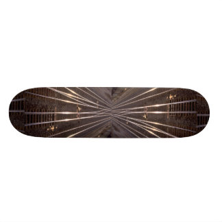Train tracks skateboard deck