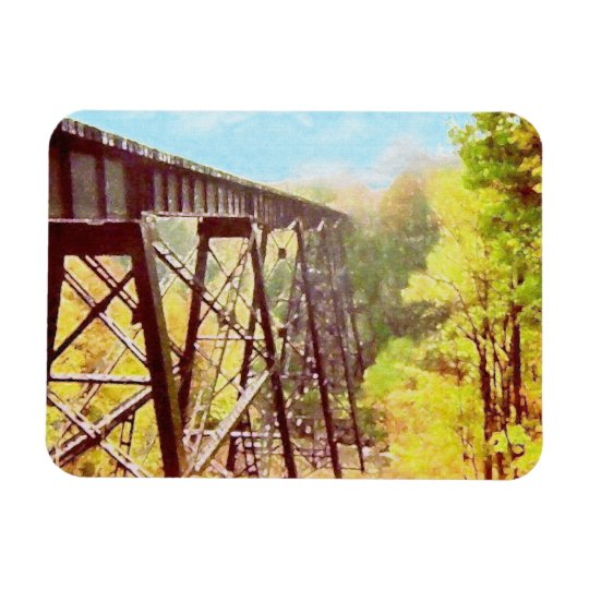 Train Trestle Rectangular Photo Magnet