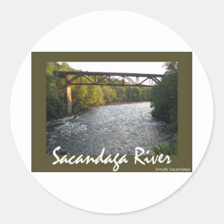 Train Trestle Round Sticker