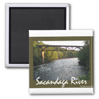 Train Trestle Square Magnet