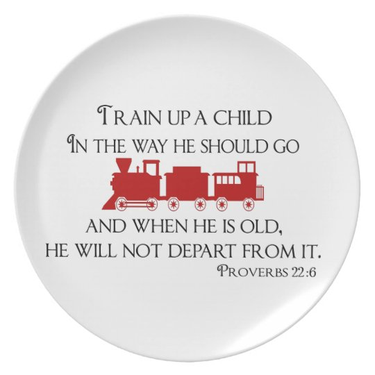 Train Up A Child In the Way He Should Go Plate