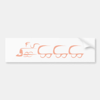 Train Vehicle in Swish Drawing Style Car Bumper Sticker
