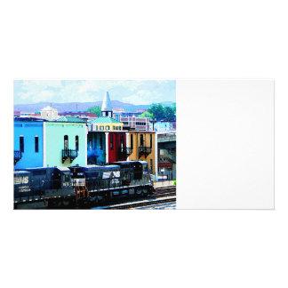 Train with Two Locomotives Roanoke VA Photo Cards