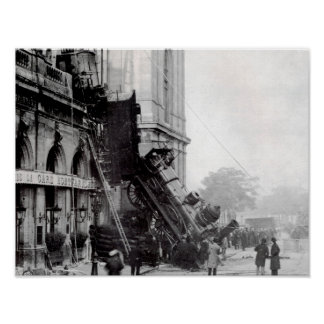 Train wreck at Montparnasse 1895 Poster
