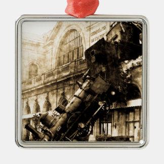 Train Wreck at Montparnasse 1895 Vintage Christmas Ornament