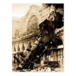 Train Wreck at Montparnasse , 22 October 1895 Post Card