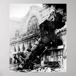 Train Wreck at Montparnasse,  22 October 1895 Poster