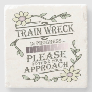 Train Wreck Stone Coaster