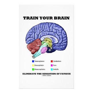 Train Your Brain Eliminate Sensation Of Fatigue Stationery