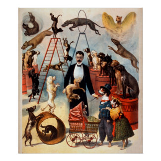 Trained Dog Act 1899 Circus Dogs Vintage Poster