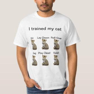 Trained My Cat (original version) T-shirt