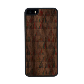 Traingulos in wood carved® walnut iPhone 5 case