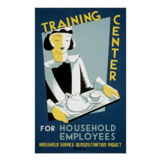 Training Center For Household Employees Poster