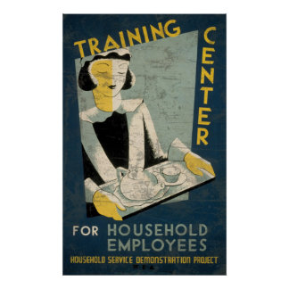 Training Center For Household Employees Posters