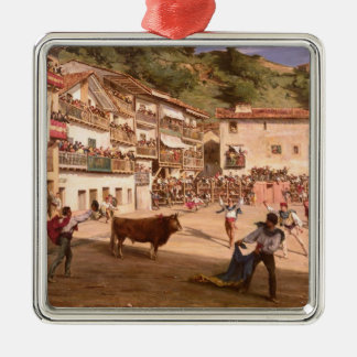 Training Fight in Biscay, 1869 Christmas Ornament