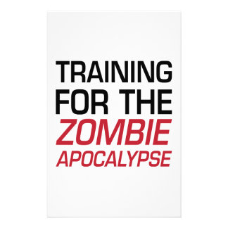 Training for the Zombie Apocalypse Stationery