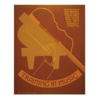 Training In Music Poster