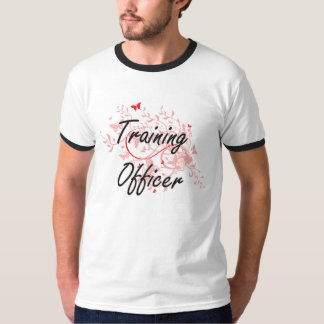Training Officer Artistic Job Design with Butterfl Shirt