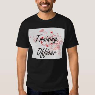 Training Officer Artistic Job Design with Hearts Shirt