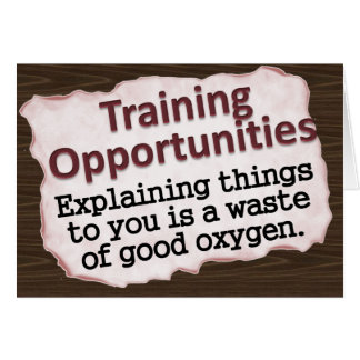 Training Opportunities Note Card