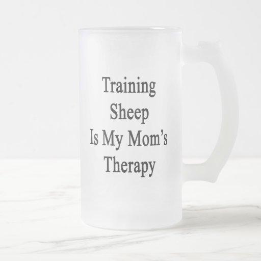 Training Sheep Is My Mom's Therapy Coffee Mugs