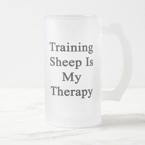 Training Sheep Is My Therapy Glass Beer Mugs