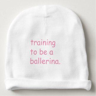 Training to be a ballerina baby beanie