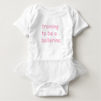Training to be a ballerina baby bodysuit